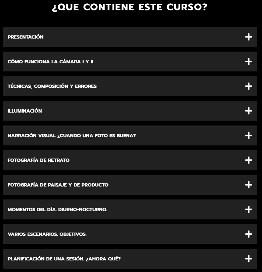 Contenido Curso Principios Marcos Alberca