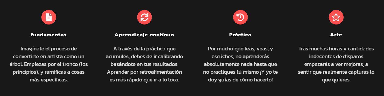 caracteristicas curso principios